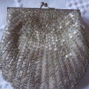 Vintage hand beaded evening of wedding purse